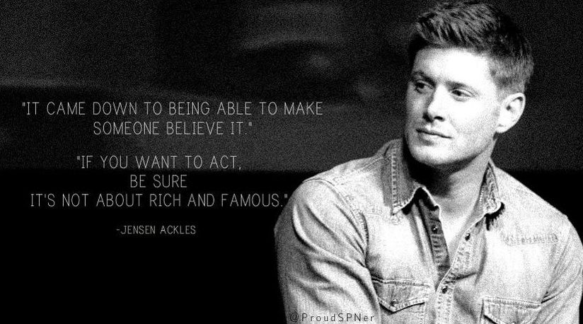 I admire him so much. #Jensen