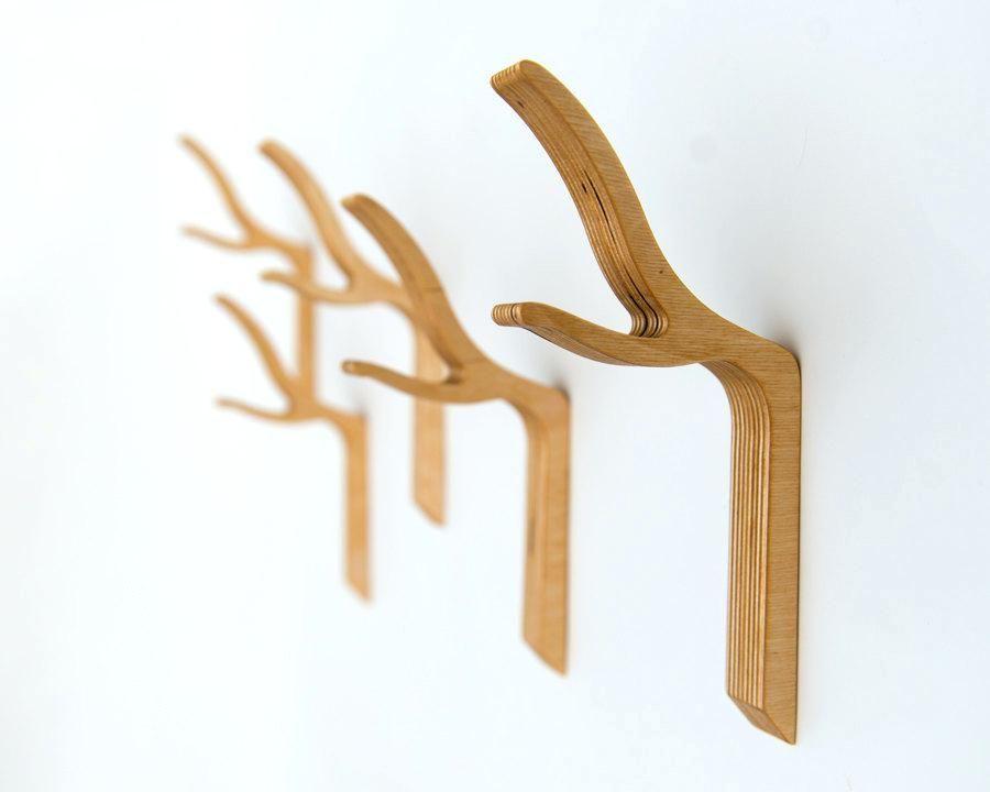 Wooden Hooks Wall Zoom Wooden Wall Hooks Nz Percheros De Pared Decoracion De Hogar Hecha A Mano Perchero De Madera