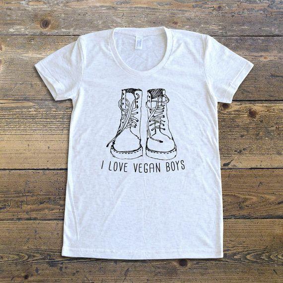 323601a5 Vegan T-Shirt, Vegan shirt, I love vegan boys T-Shirt, Gift for vegans,  vegan tee, vegan lifestyle, vegan apparel