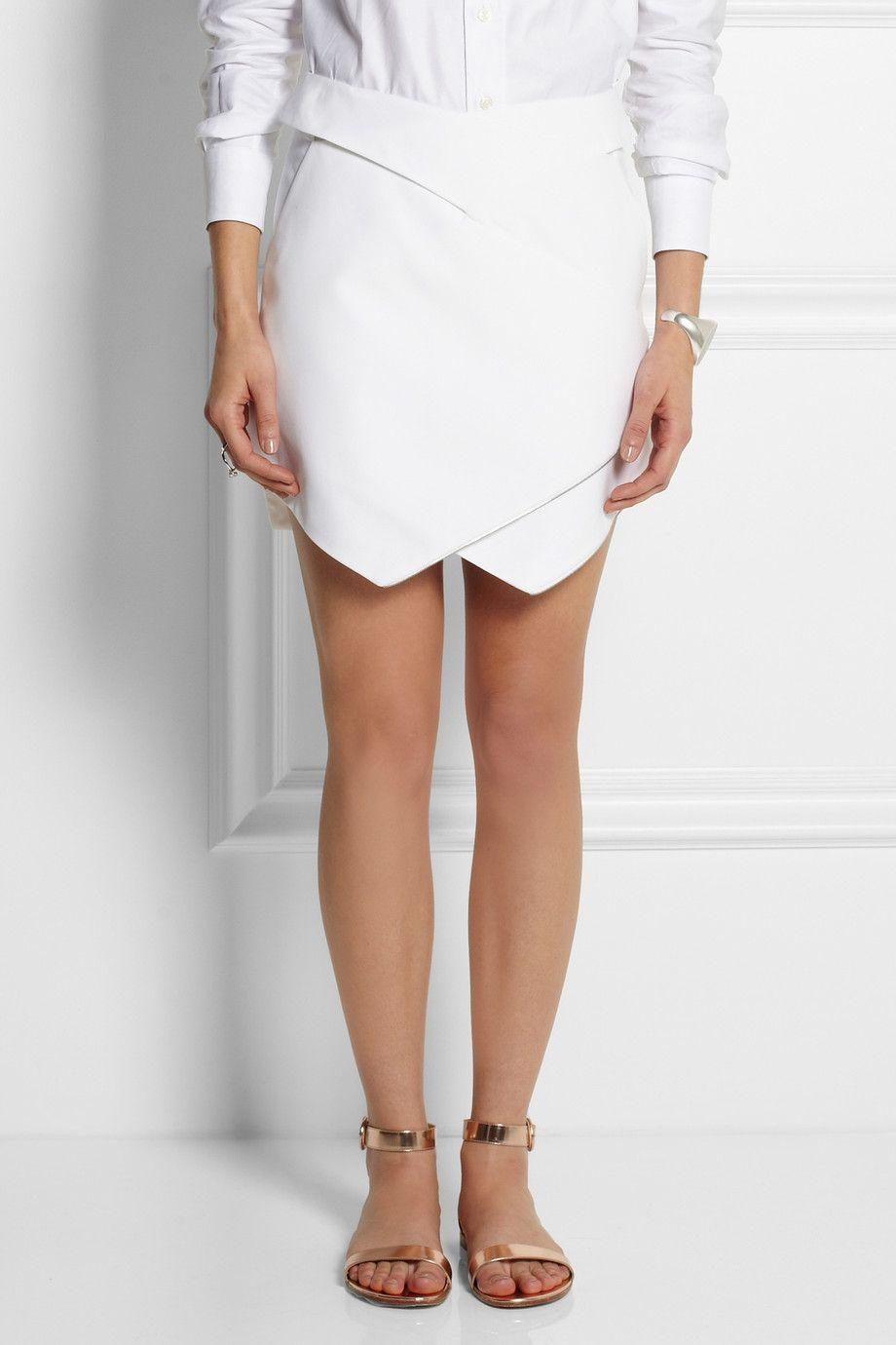 Dion Lee Wrap-effect cotton mini skirt NET-A-PORTER.COM