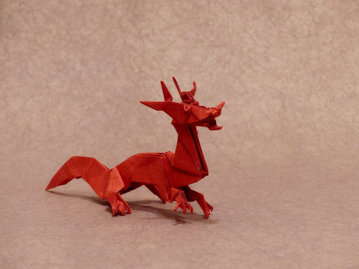 I M Just Winging This Post Full Of Incredible Eastern Style Origami Dragons Origami Dragon Eastern Dragon Origami Design