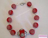 Berry sparkle bracelet #handmadebymand #etsy #etsyuk #etsyseller #etsyselleruk #etsystore #etsyshop #jewellery #wedding #bridesmaid #motherofthebride #beads  #ccc #htlmp #pagepal #crook #uk #Durham