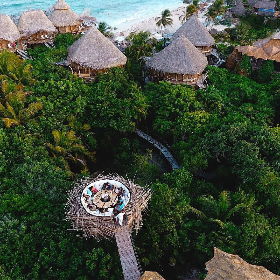 ägyptisches badezimmerdekor a humansized bird nest  tulum mexico azulik hotel  repinned by
