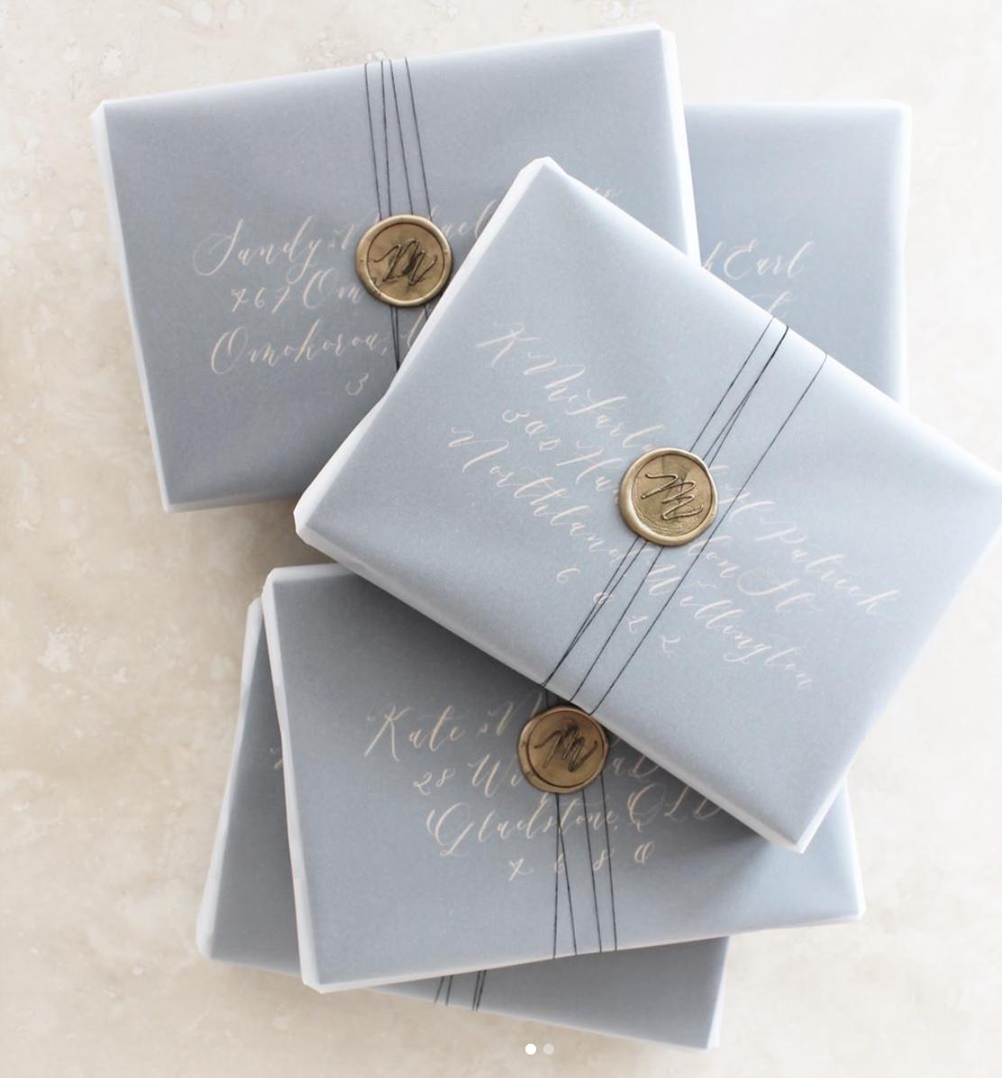 monogram wedding envelope seals sticker%0A Wedding calligraphy