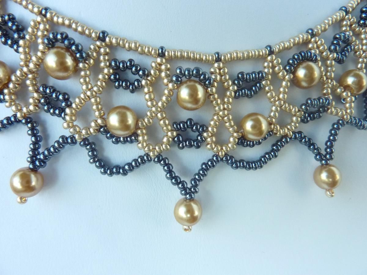 DIY Jewelry: FREE beading pattern for a lovely beaded lace ...