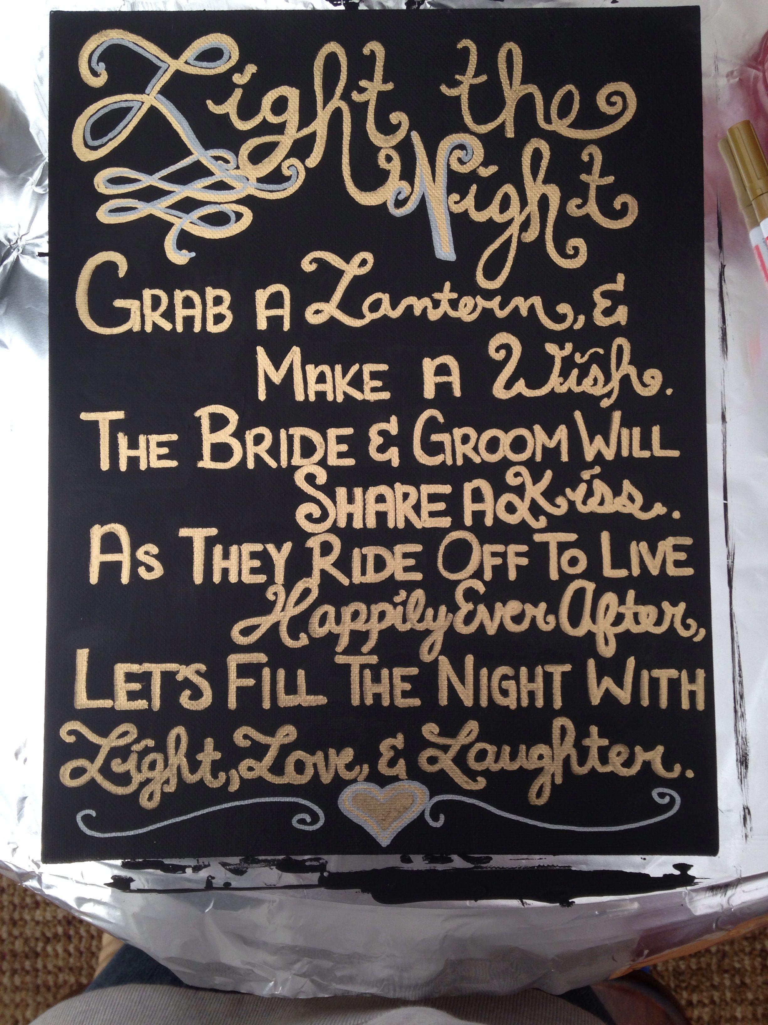 Wedding decorations tulle and lights  Latest wedding creation  lantern release poem wedding lanterns