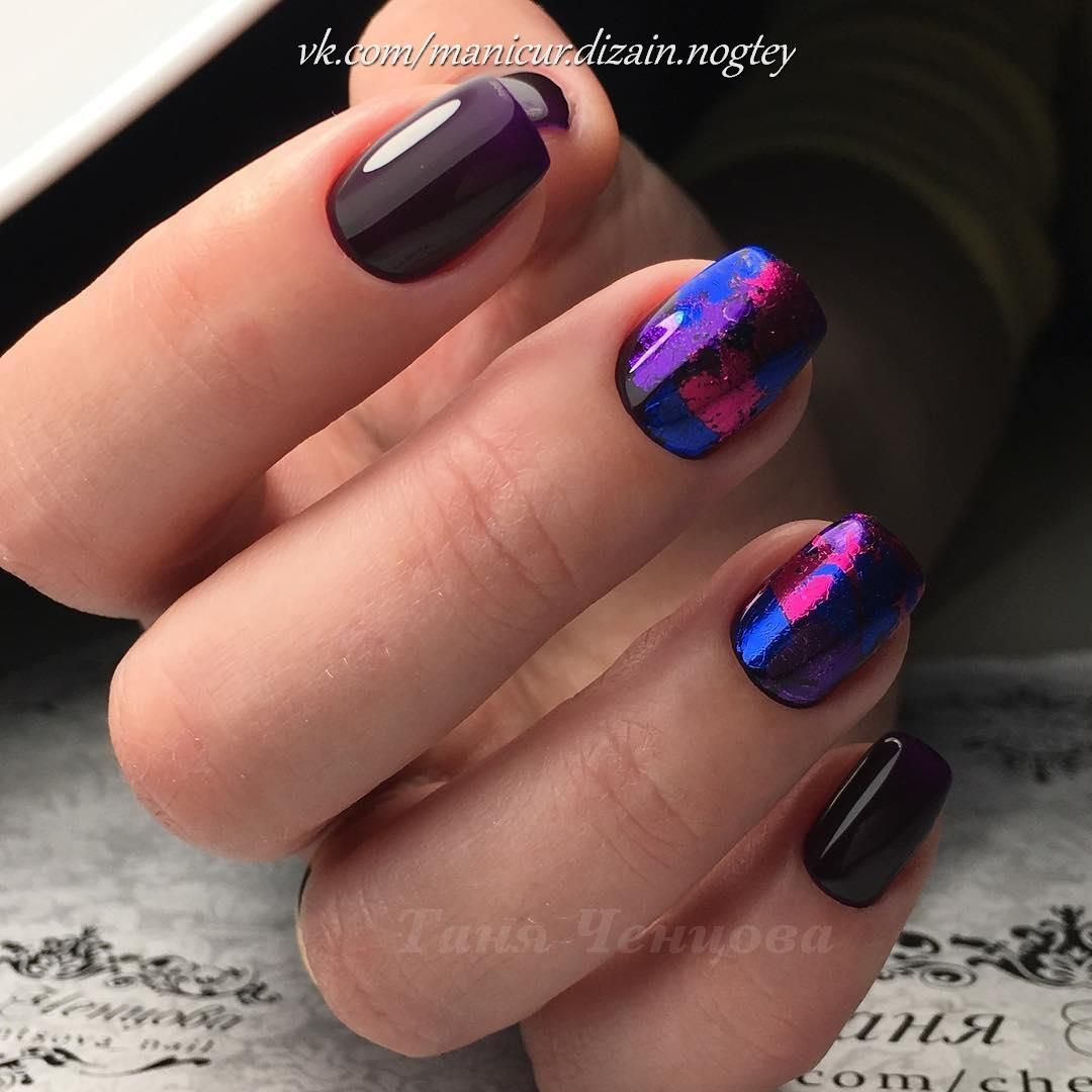Nail Art #3695 - Best Nail Art Designs Gallery | Plum nails, Short ...