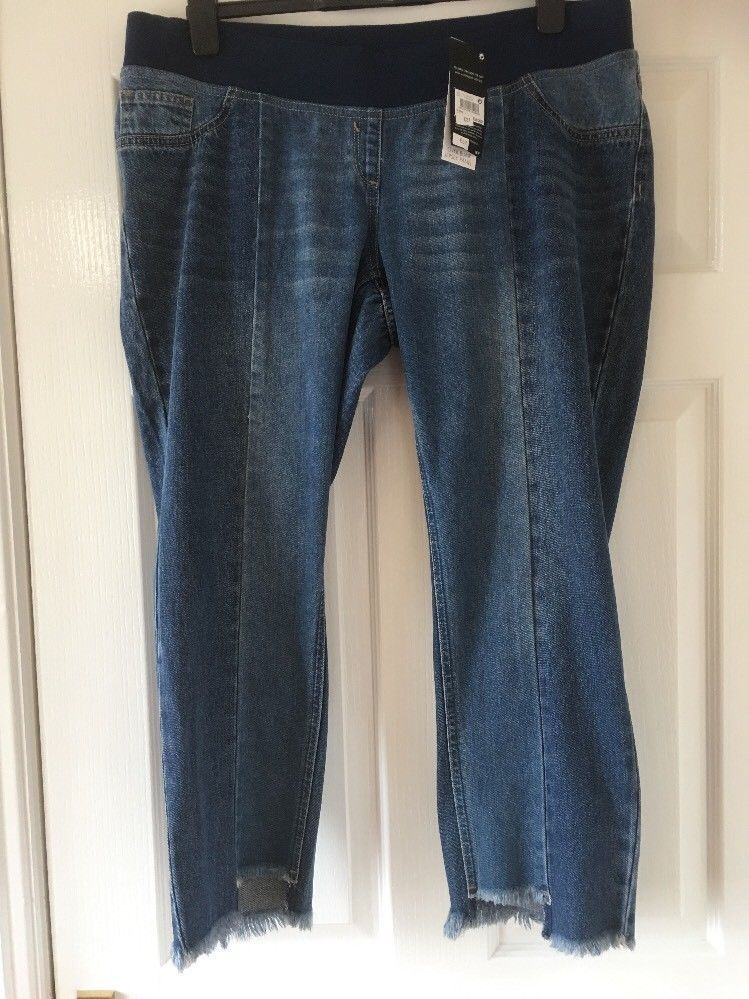 3bcfb9a9be New Next Materity Slim Slouch Crop Jeans Size 12 Short bnwt Over Bump   fashion
