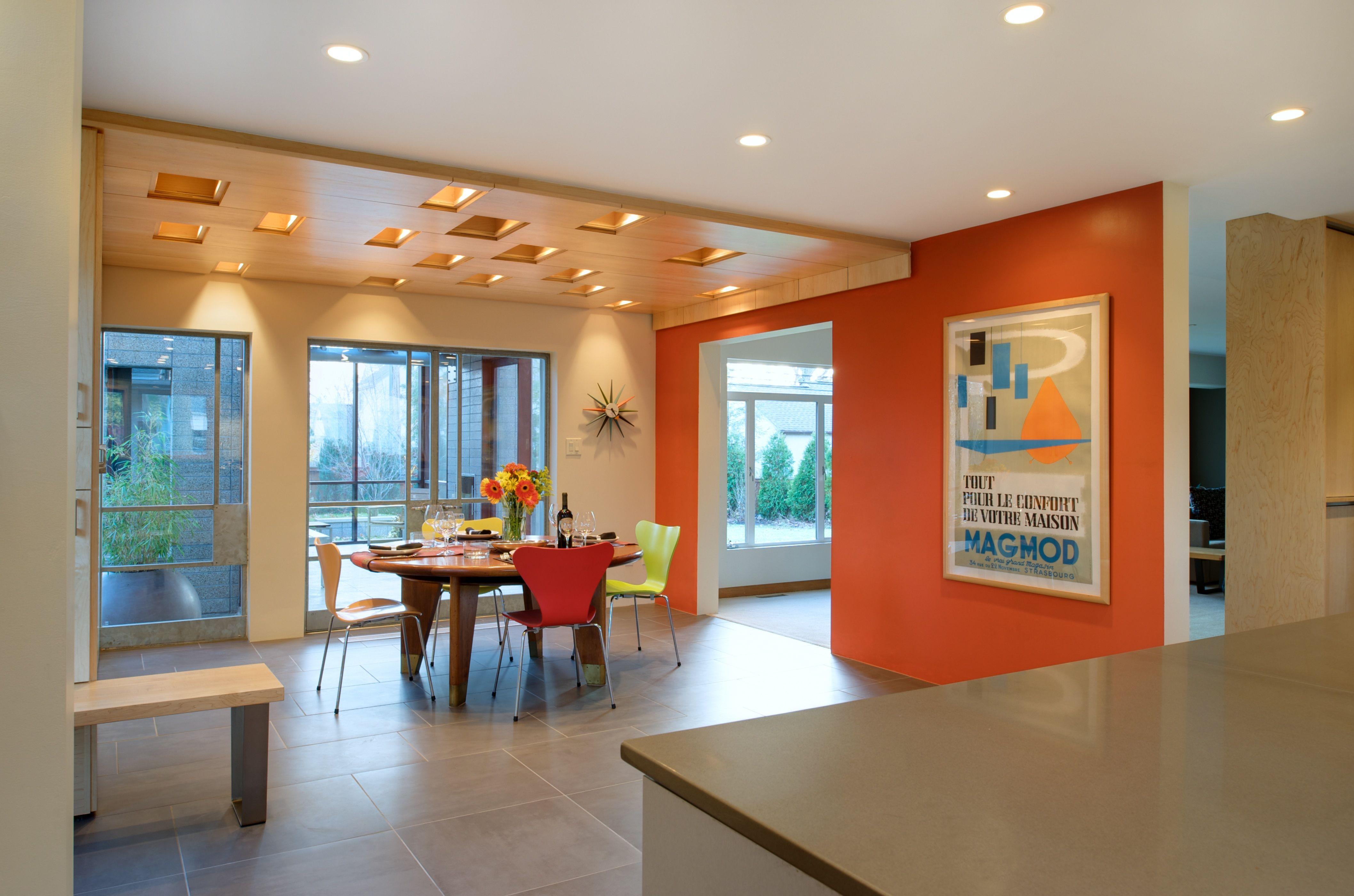 Orange Paint Kitchen