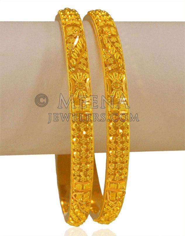 2bbc191e3 22 Karat Gold Filigree Bangles ( Gold Bangles ) | design in 2019 ...
