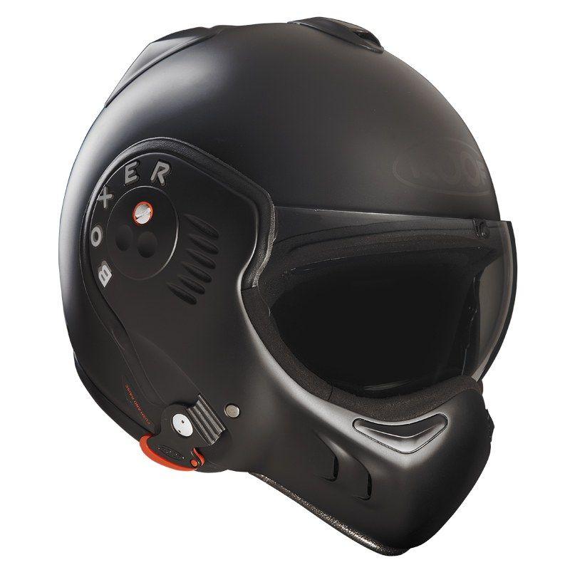 Casque Roof Ro5 Boxer V8 Full Black Casque Helmet Roof