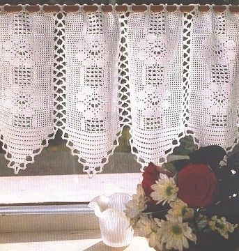 exemple mod le gratuit rideau crochet modeles rideaux gratuit pinterest crochet curtains. Black Bedroom Furniture Sets. Home Design Ideas