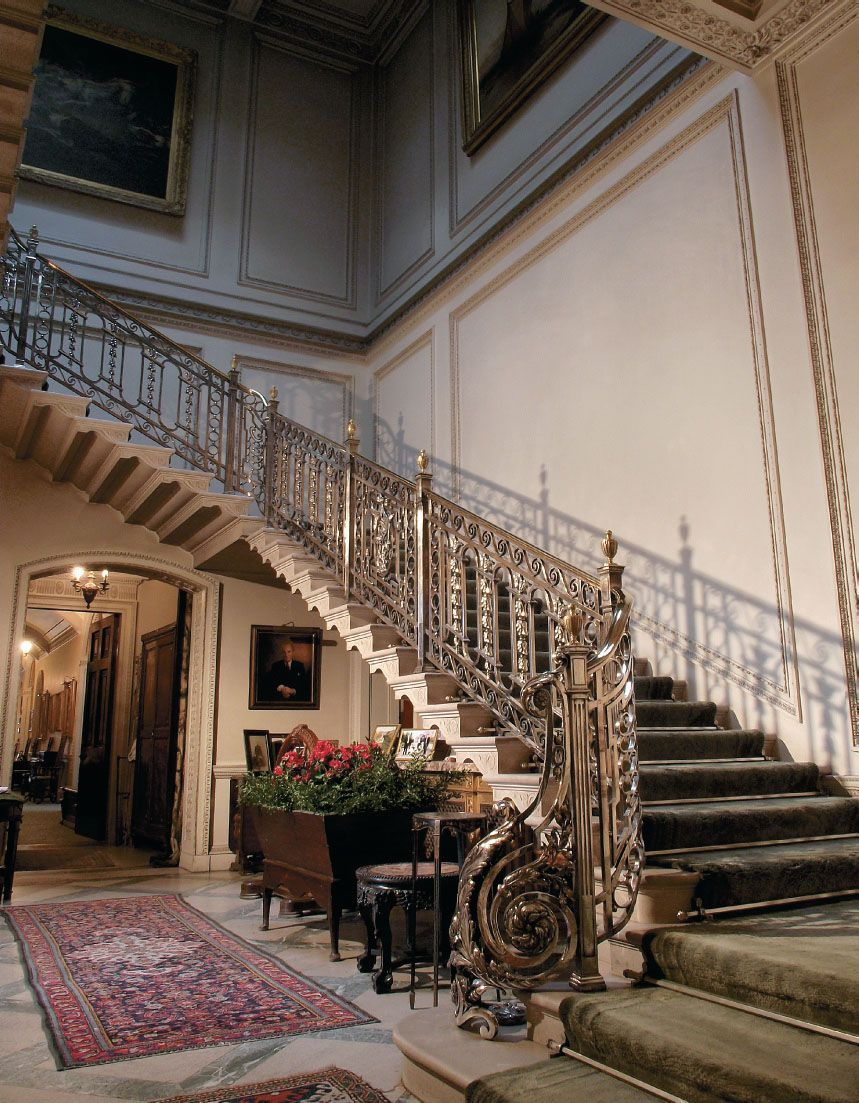 Manderston House Silver Staircase English Country House Pretty House Rustic Stairs