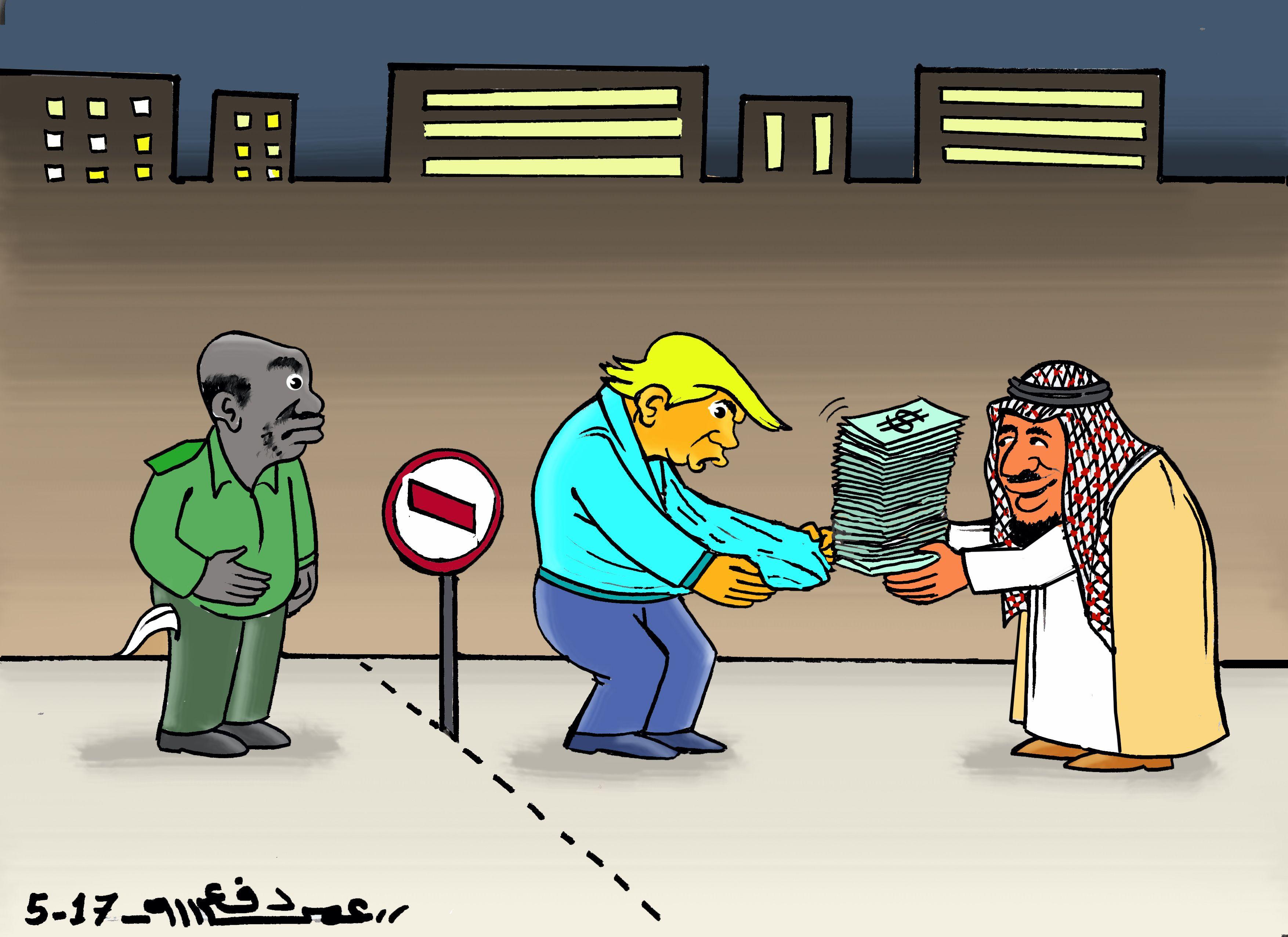 كاركاتير اليوم الموافق 22 مايو 2017 للفنان عمر دفع الله