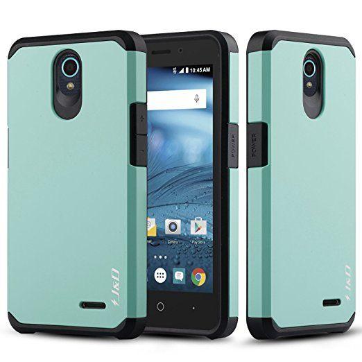 new product f5705 d78ce Amazon.com: ZTE Avid Plus Case, J&D [Heavy Duty Protection] [Dual ...