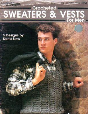 CARAMELO DE CROCHET: mas ideas de crochet para hombres   chalecos ...