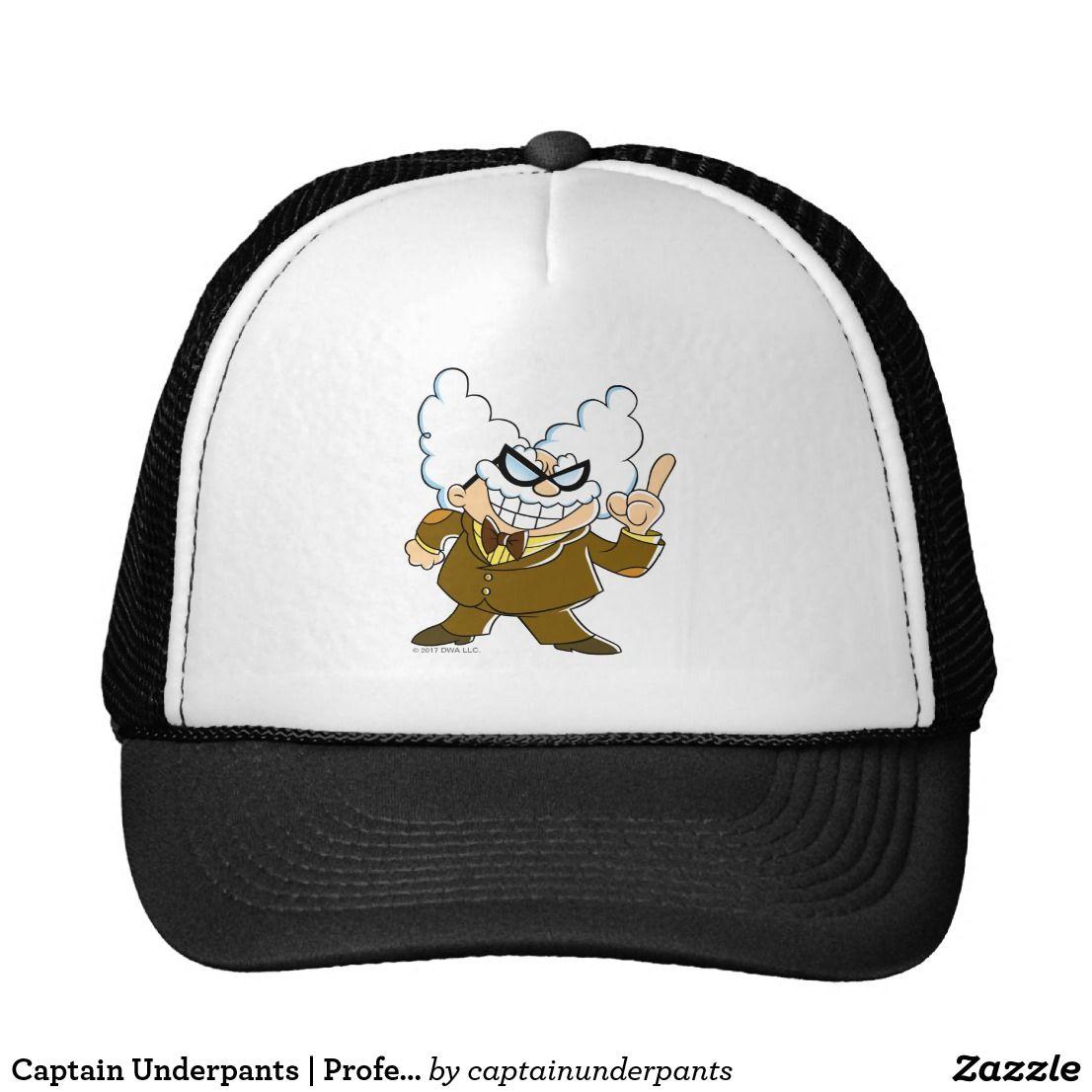 Captain Underpants | Professor Poopypants. Producto disponible en tienda Zazzle. Accesorios, moda. Product available in Zazzle store. Fashion Accessories. Regalos, Gifts. #gorra #hat