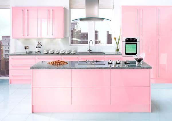 Top 20 Cocinas En Color Rosa Simple Kitchen Design Kitchen Design Design My Kitchen