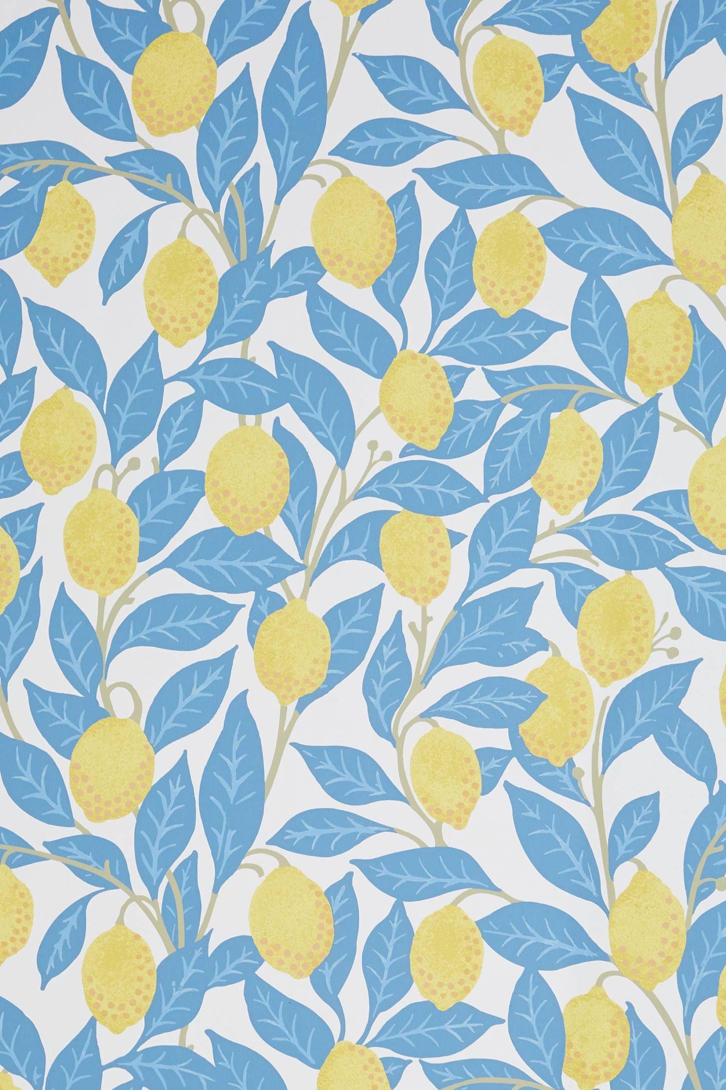 Lemons Wallpaper Wallpaper Anthropologie Wallpaper Accent Wallpaper