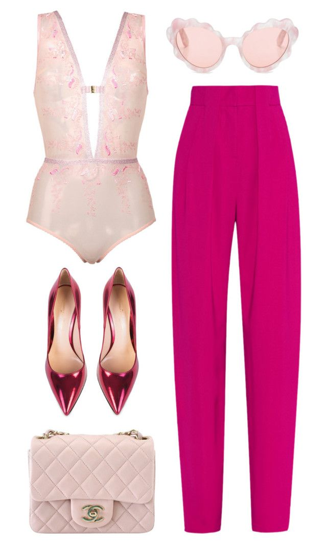 """""""Be in Touch"""" by silhouetteoflight ❤ liked on Polyvore featuring Issa, Gianvito Rossi, Chanel and Opening Ceremony"""