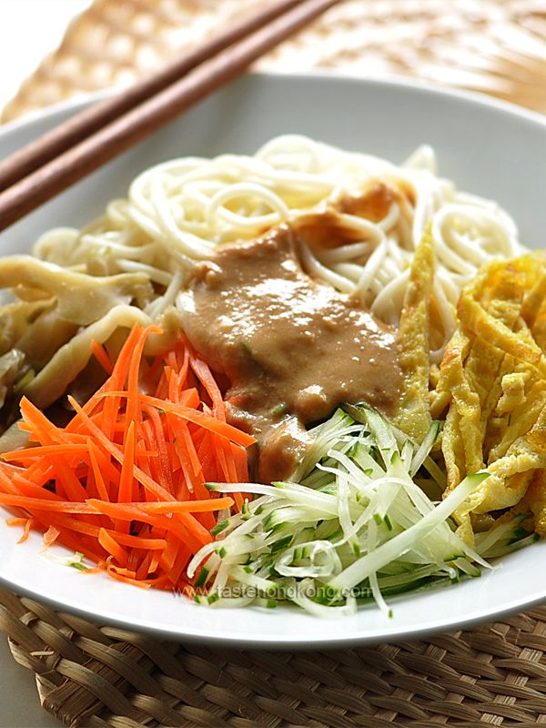 Cold noodles with sesame dressing chinese style hong kong food cold noodles with sesame dressing chinese style hong kong food blog with recipes forumfinder