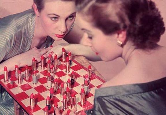 There is nothing more intense than two women chess players