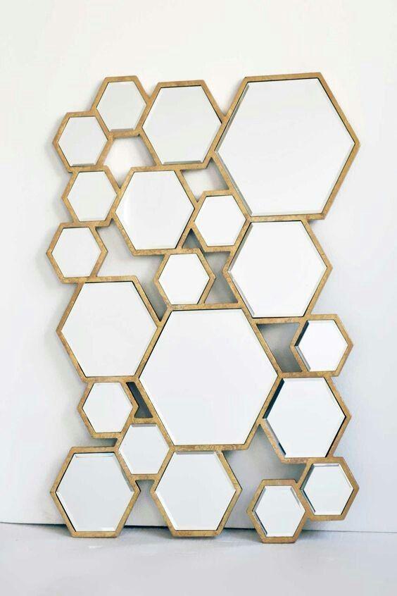 Hexagon Mirror Spiegel Zeshoek Accessory In 2019 Home