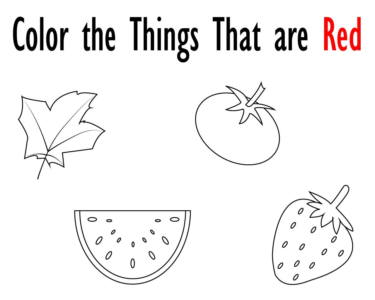 Printable Red Coloring Pages For Your Little Ones Coloring Pages