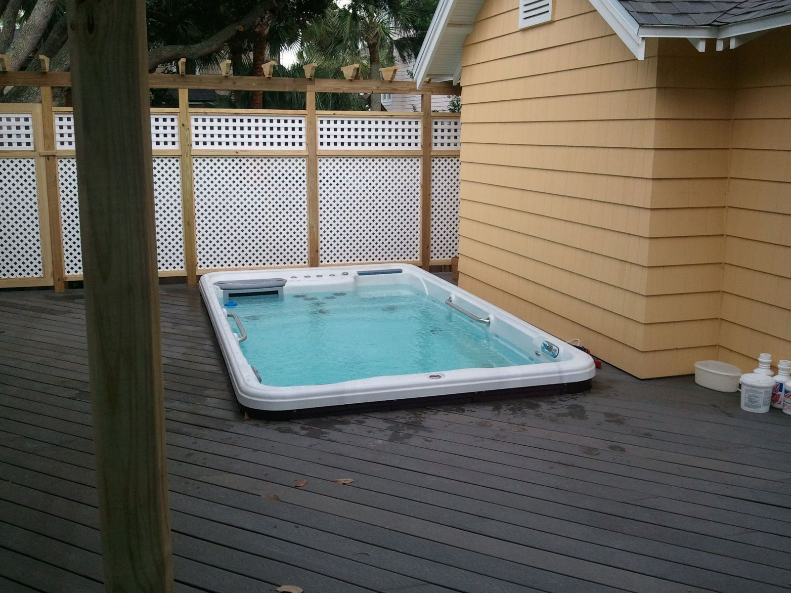 Tidalfit exercise pool in deck photo courtesy of splash for Pool design jacksonville fl