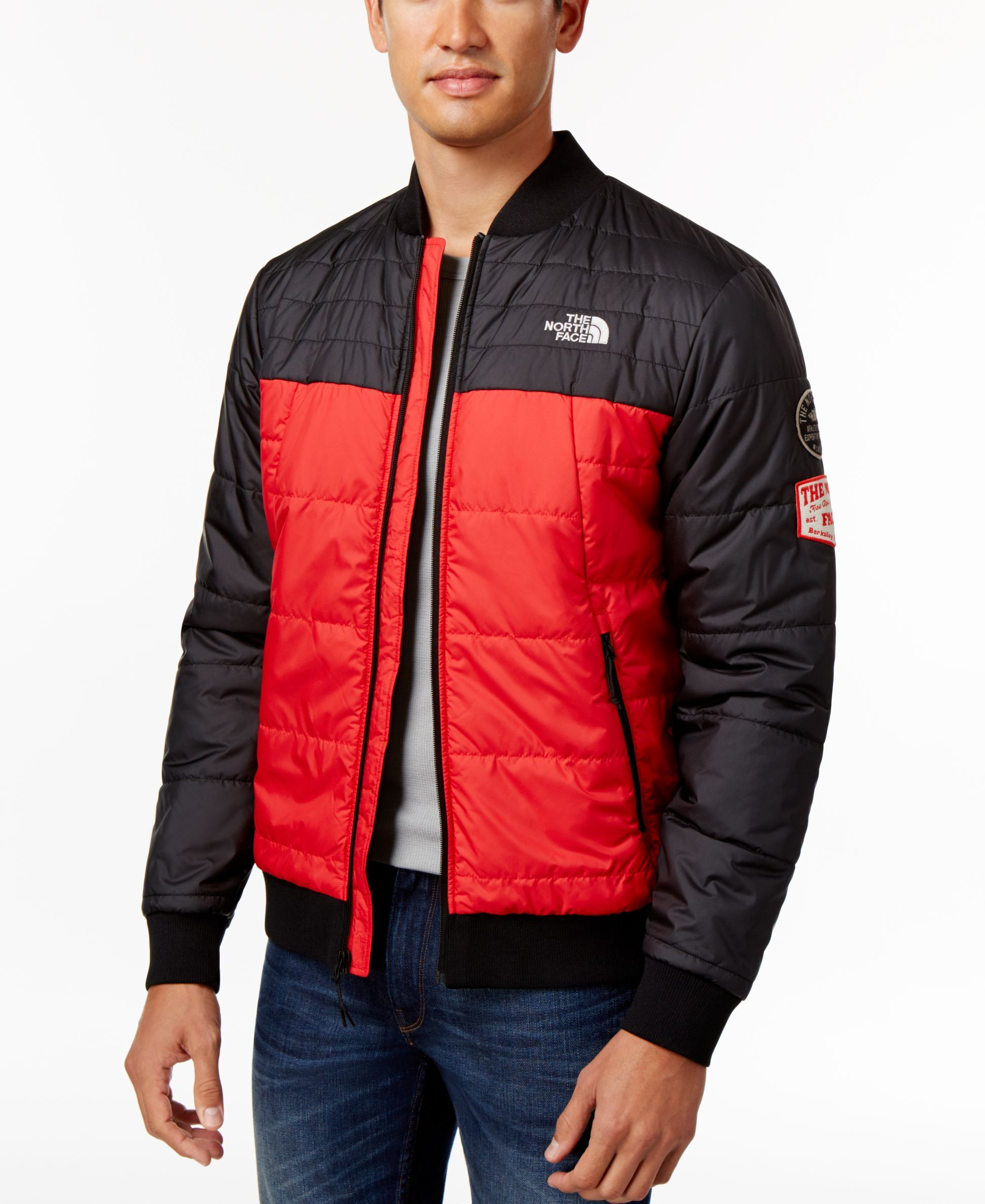 The North Face Men S Quilted Bomber Jacket Quilted Bomber Jacket Red Dress Jacket Light Waterproof Jacket [ 2378 x 1947 Pixel ]