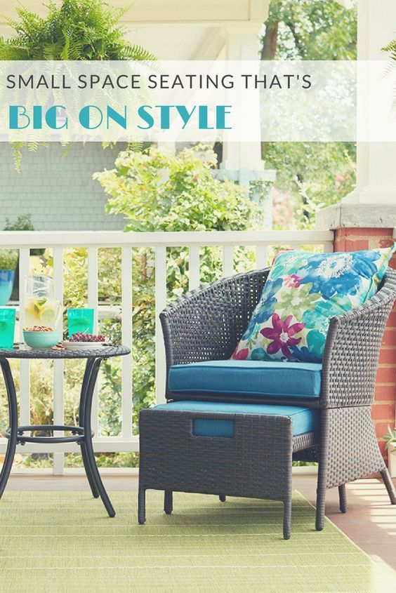 Dress Up Even The Smallest Outdoor Area With A Chair Side Table