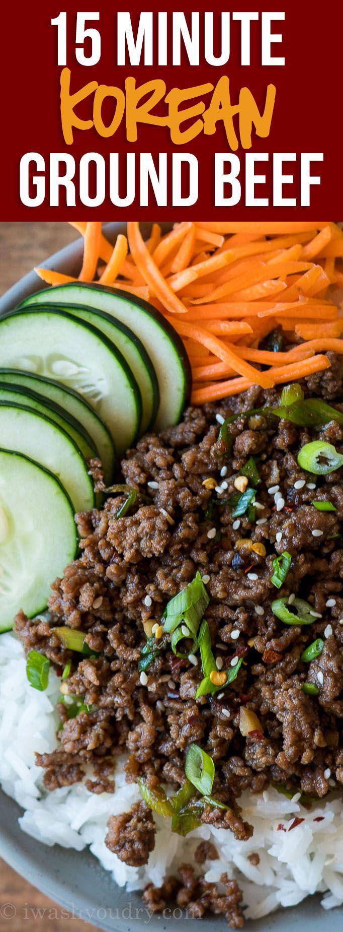 Easy Korean Ground Beef Recipe Recipe Korean Ground Beef Beef Recipes For Dinner Ground Beef Recipes
