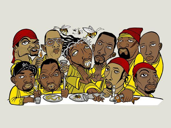 Wu Tang At The Last Supper Wu Tang Clan Hip Hop Art Wu Tang