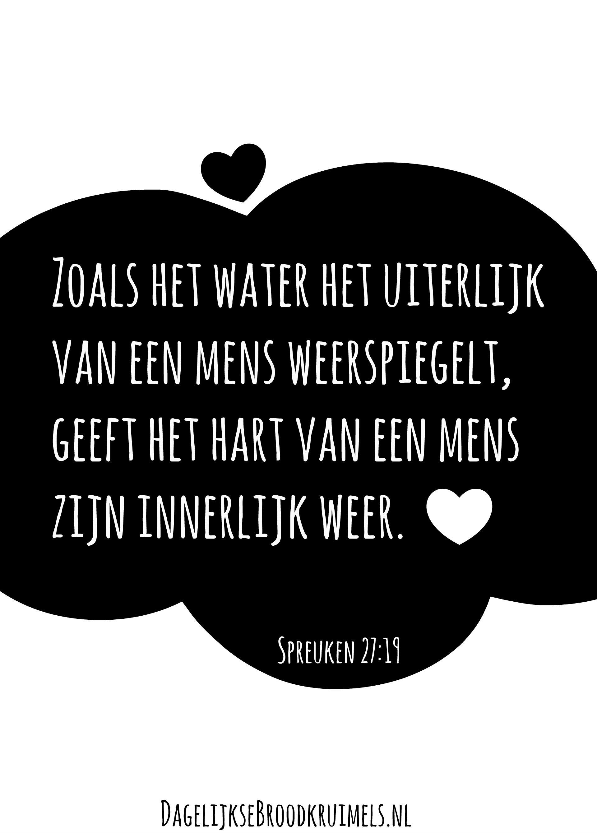 spreuken met water Spreuken 27:19 | Pinterest   Hart, Water en Weer spreuken met water