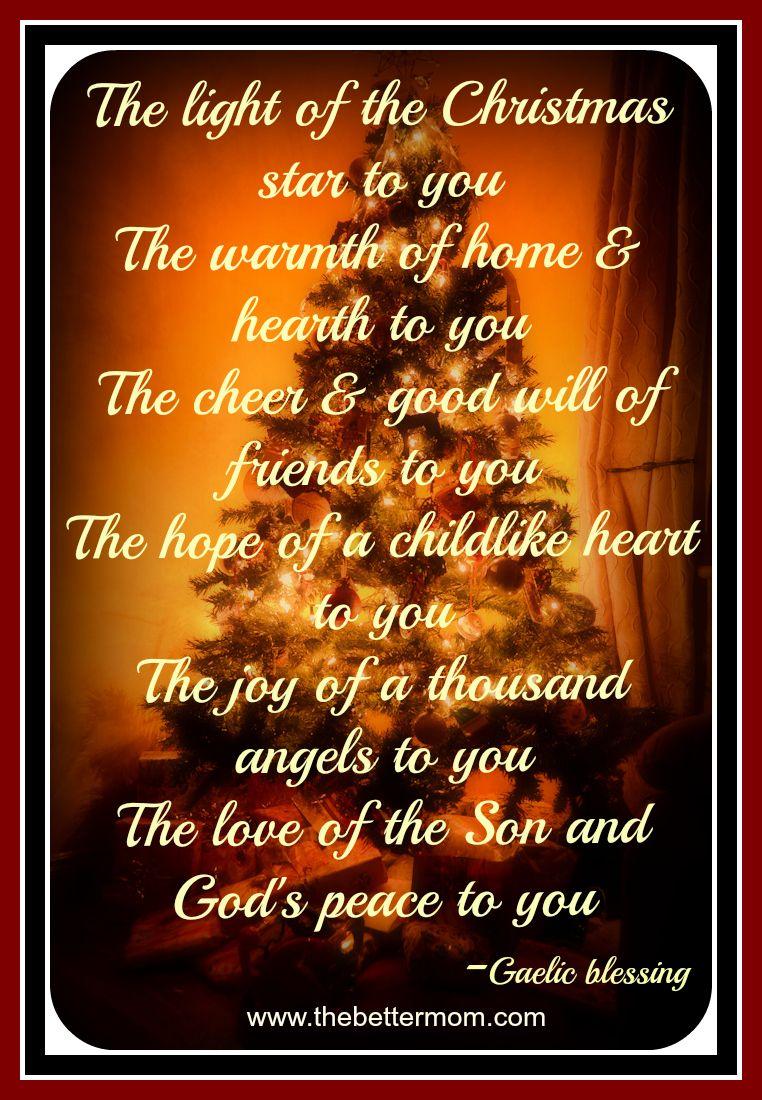 An Irish Christmas Blessing ~www.thebettermom.com | Christian ...