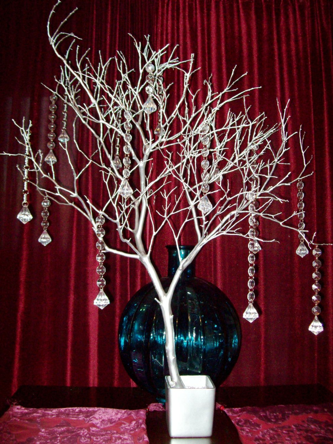 Crystal tree wishing tree manzanita branch manzanita for Wish decoration