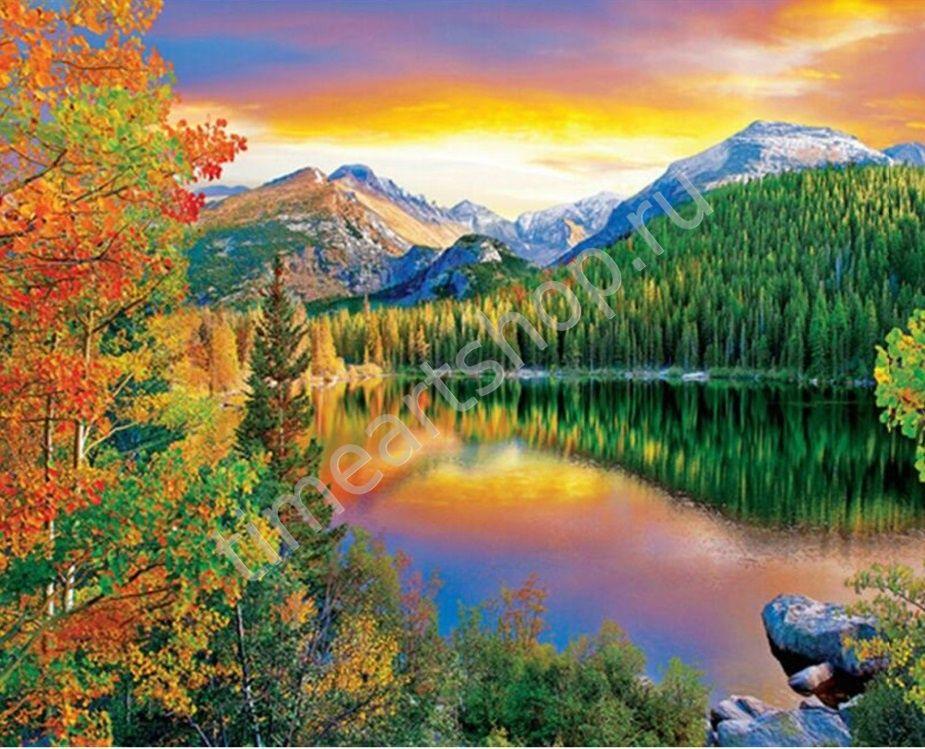 Краски природы, картины раскраски по номерам, размер 40 ...