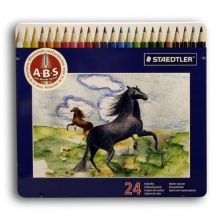 Staedtler Coloured Pencil Set of 24 in a Tin