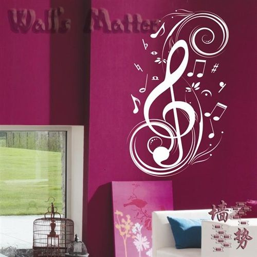 WALD Piano Music Classroom Musical Notes Nursery Living Room ...