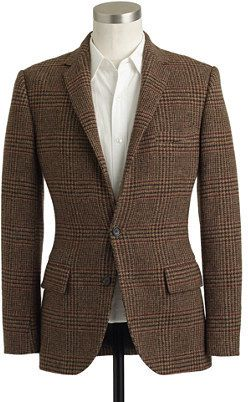 $328, Brown Plaid Blazer: Ludlow Sportcoat In Brown Glen Plaid English Wool. Sold by J.Crew. Click for more info: http://lookastic.com/men/shop_items/2553/redirect