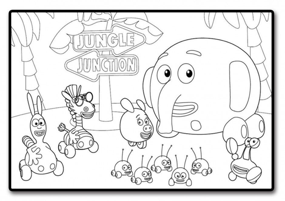 Download Or Print This Amazing Coloring Page Jungle Junction Jpg 127604 Jungle Junction Coloring Pa Jungle Coloring Pages Disney Coloring Pages Coloring Pages