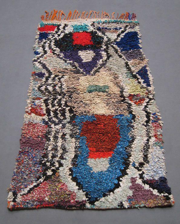 Vintage Abstract Boucherouite Rag Rug. Www.larusi.com