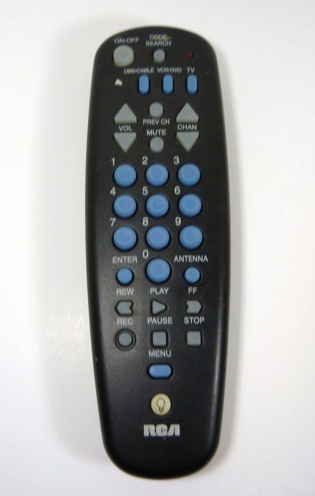 Rca 3 Device Universal Remote Control Tv Vcr Dvr Etc Rcu300t