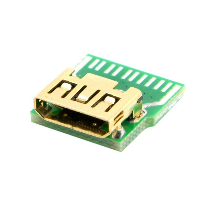 Mini Hdmi 1 4 Type C Female Socket Receptacle Board Mount Smt Type With Pcb For Hdtv Diy Cable Camcorder Accessories Hdmi Mini