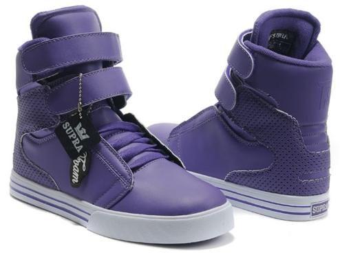 Purple leather shoes, Justin bieber shoes