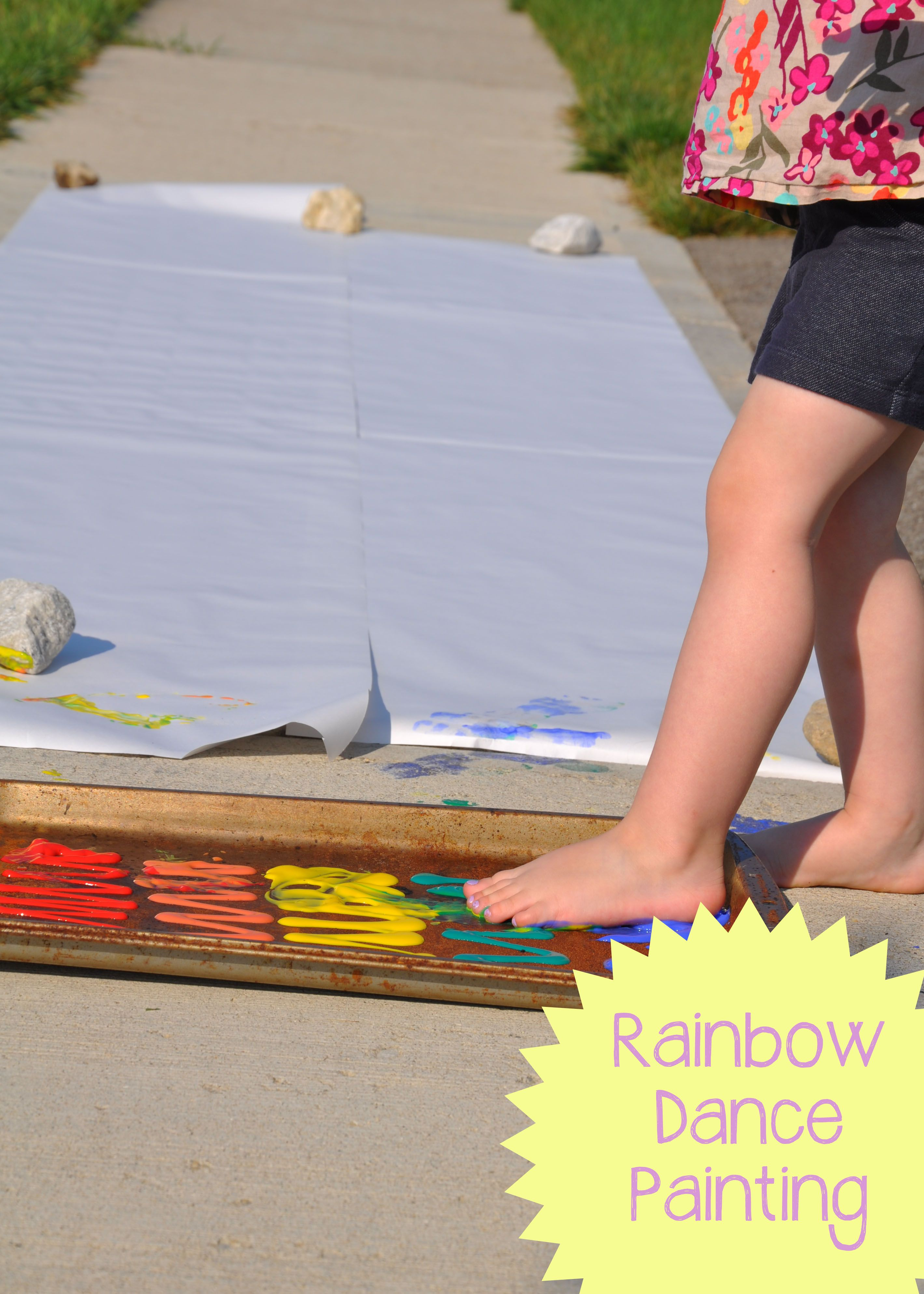 Rainbow Dance Painting - Messy Monday @ play learn love.