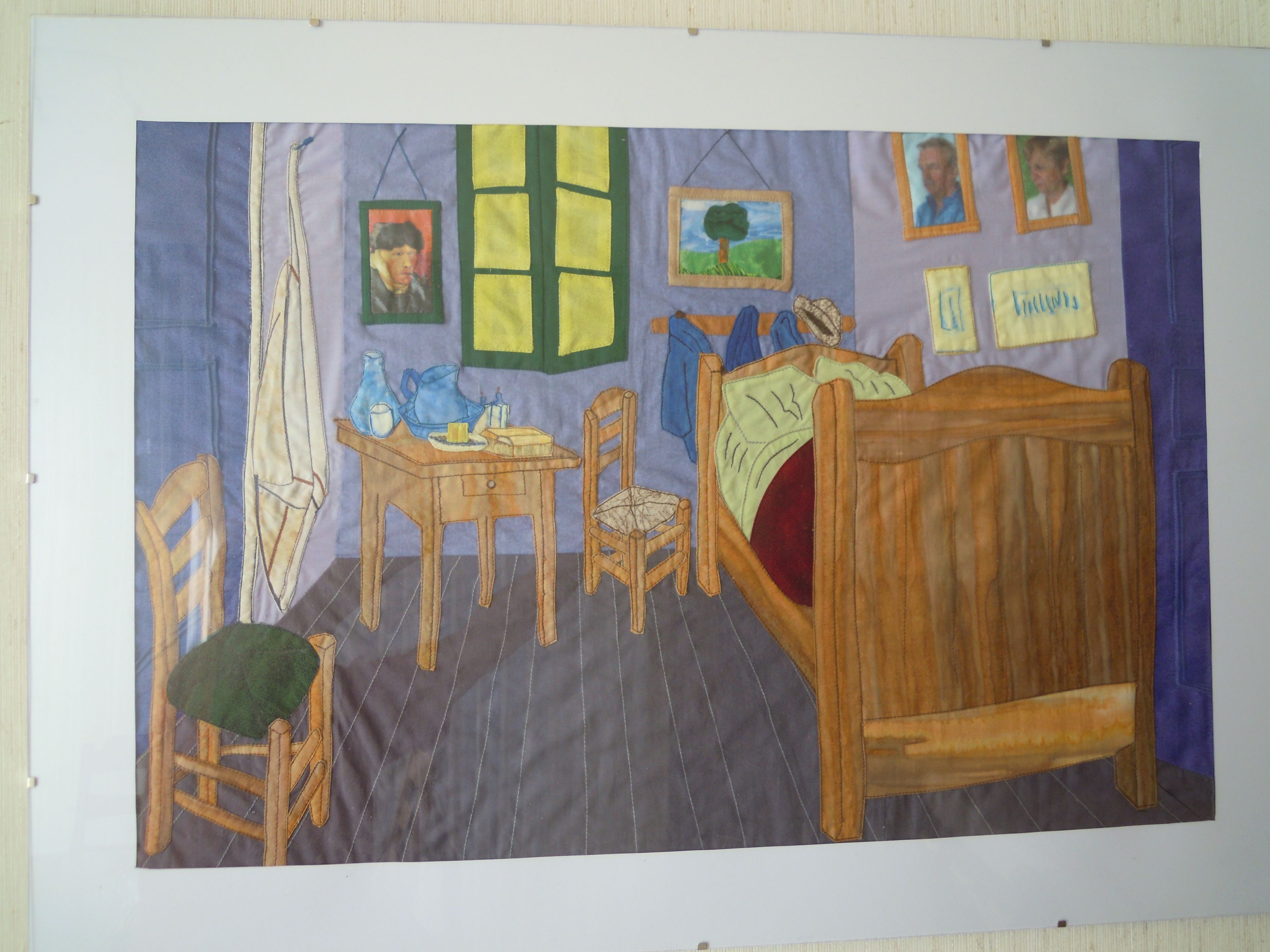 La Chambre Jaune à Arles Van Gogh My Latest Work I Made All With Fabric And Thread La Chambre