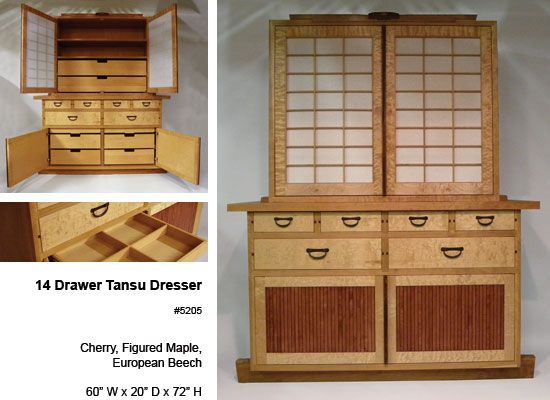Craig Yamamoto, Woodworker   14 Drawer Tansu Dresser   Japanese Inspired  Dresser Of Solid Cherry