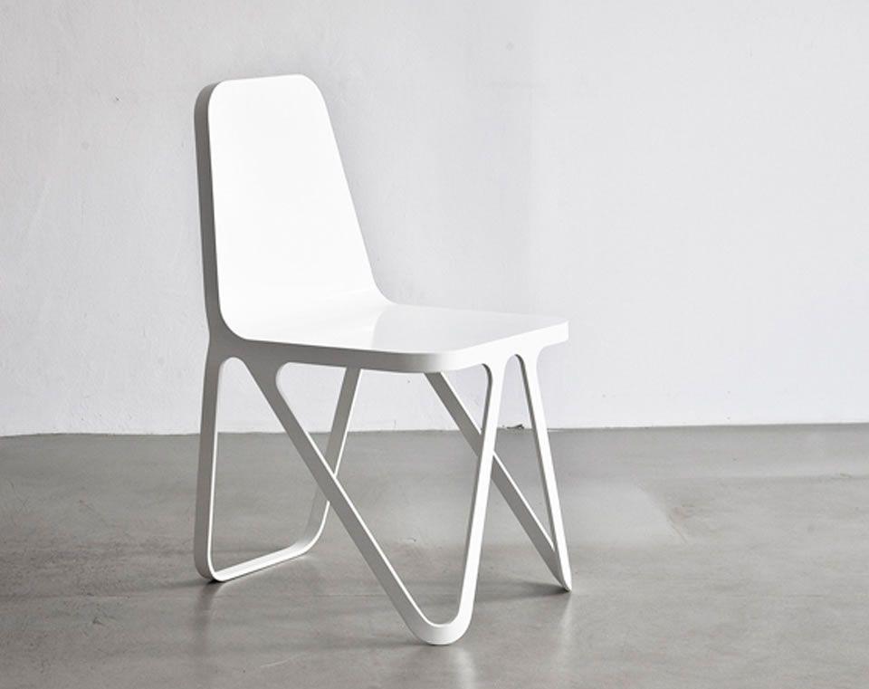 Aluminum Dining Chair Design by Sebastian Scherer Illustrious