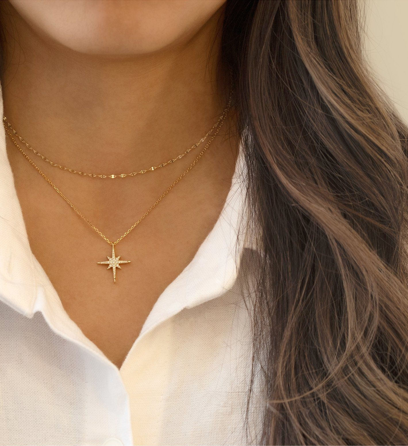 sandal dainty stainless steel SUMMER NECKLACE jewelry was plated real gold delicate necklace thin chain